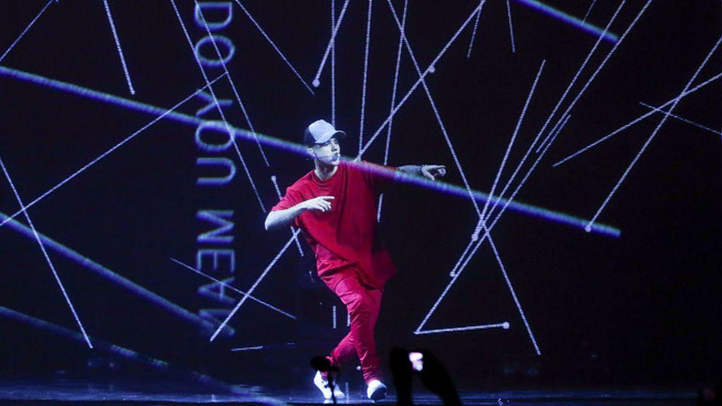 Justin Bieber durante su actuación