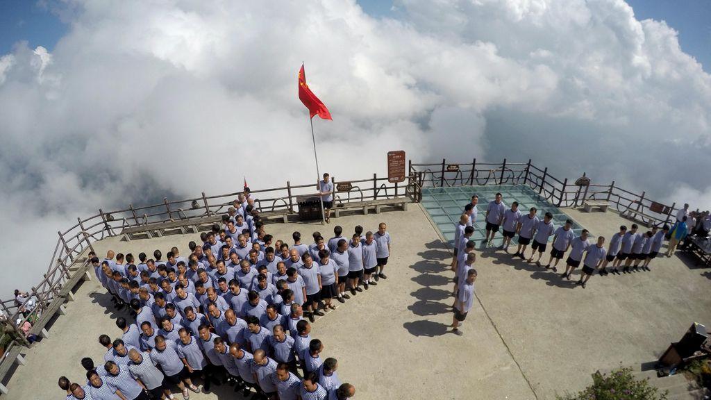 Los veteranos del ejército chino, de homenaje