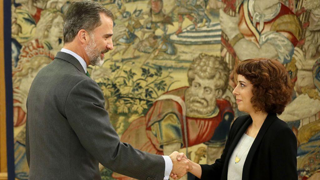 La portavoz de En Marea en el Congreso, Alexandra Fernández