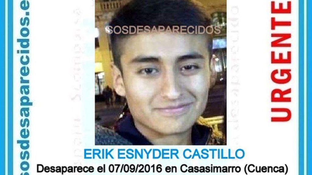 Erik Snyder Castillo, desaparecido en Cuenca