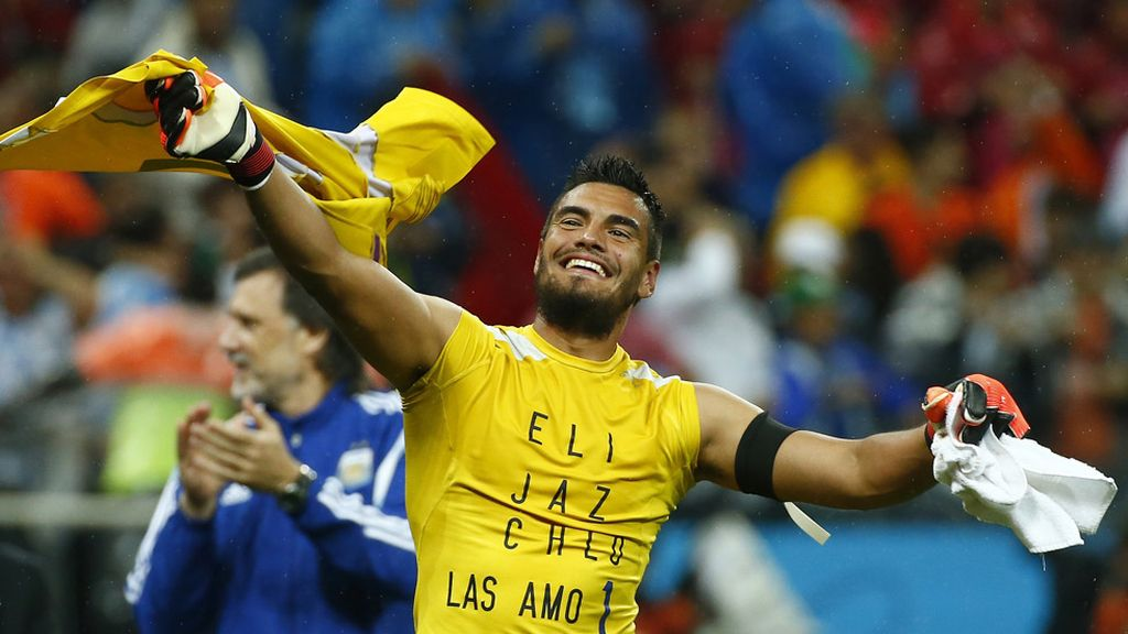 Romero se convirtió en el héroe del día al detener dos penaltis