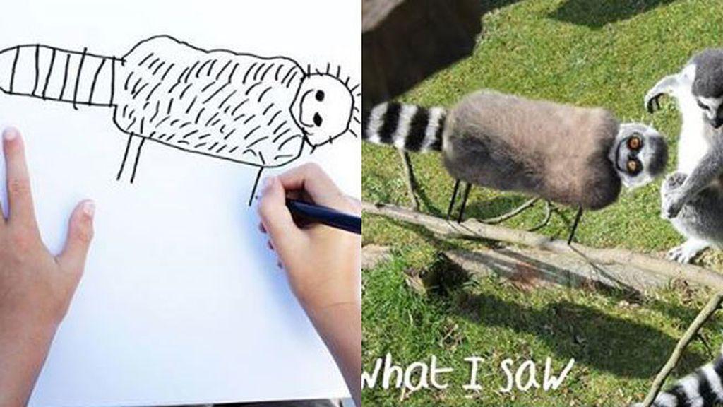 Lo que el pequeño dibuja...lo que su papá ve