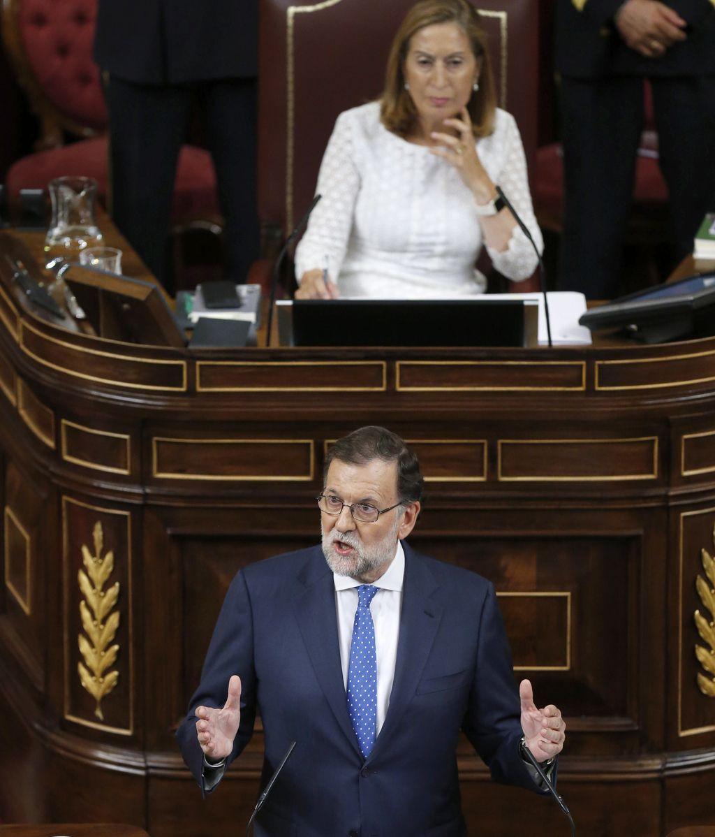 Mariano Rajoy, en su discurso de investidura