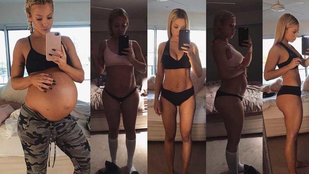 Una bloguera fitness muestra cómo recuperar la figura dos meses después de dar a luz
