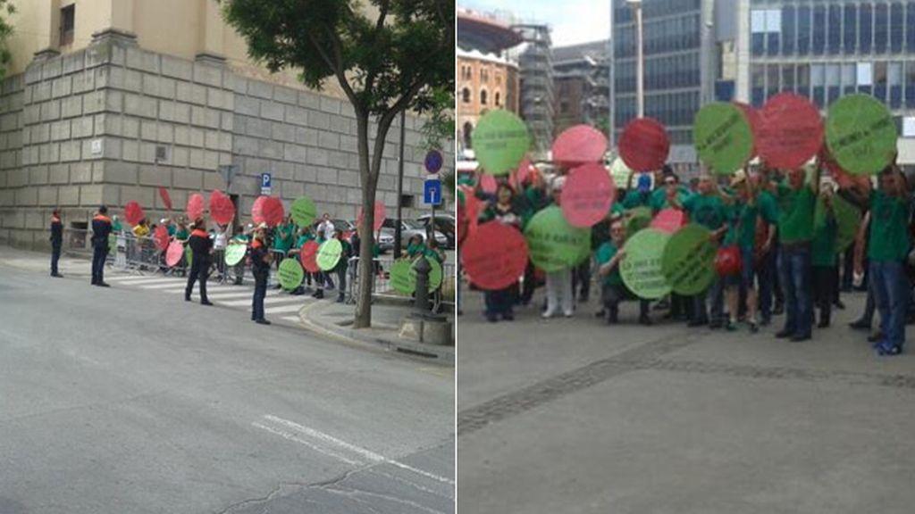 Activistas de la PAH se concentran en Barcelona