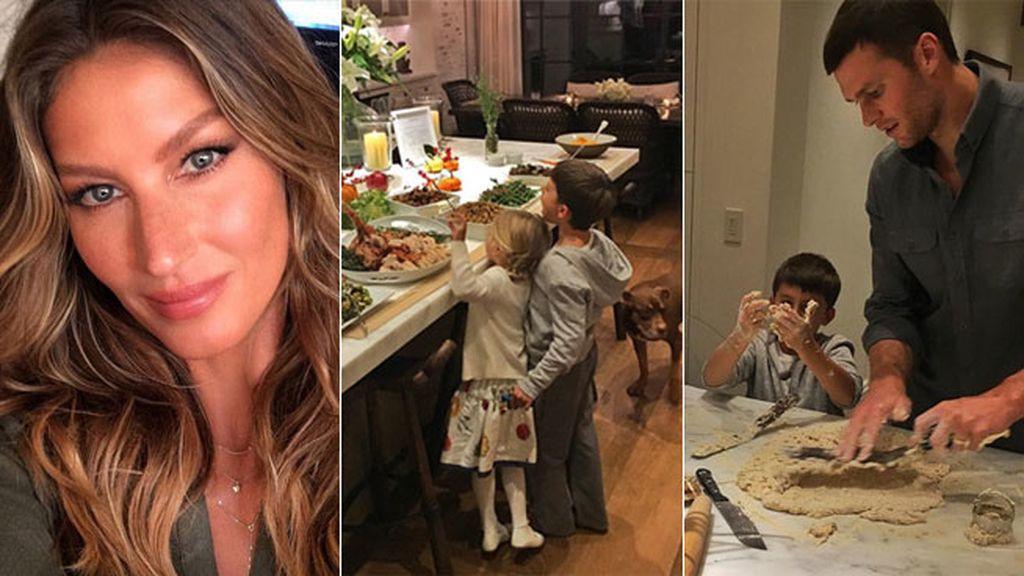 Gisele Bundchen, su marido y sus hijos: ¡todos cocinando!