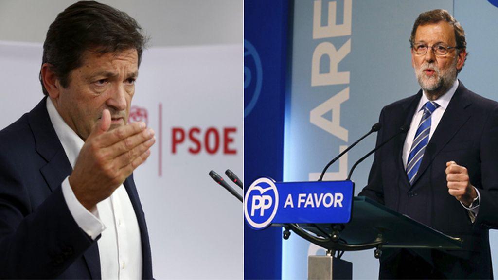 Rajoy llama por teléfono a Javier Fernández para felicitarle por su nombramiento