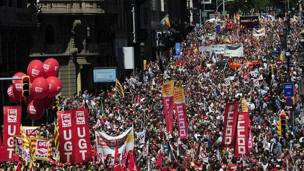 Imagen de archivo de una manifestación del Día del Trabajo