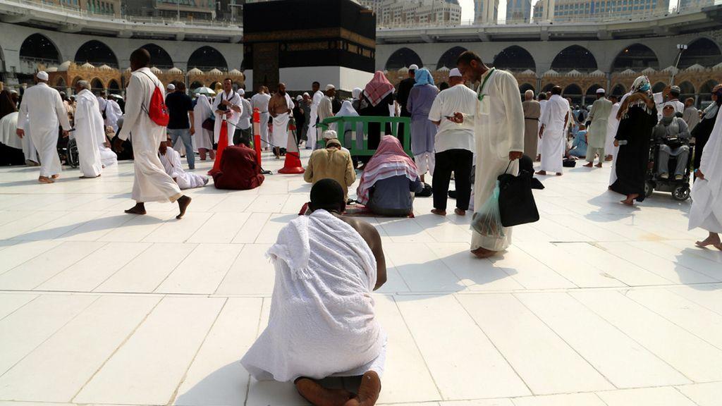 Rezando en la Mecca