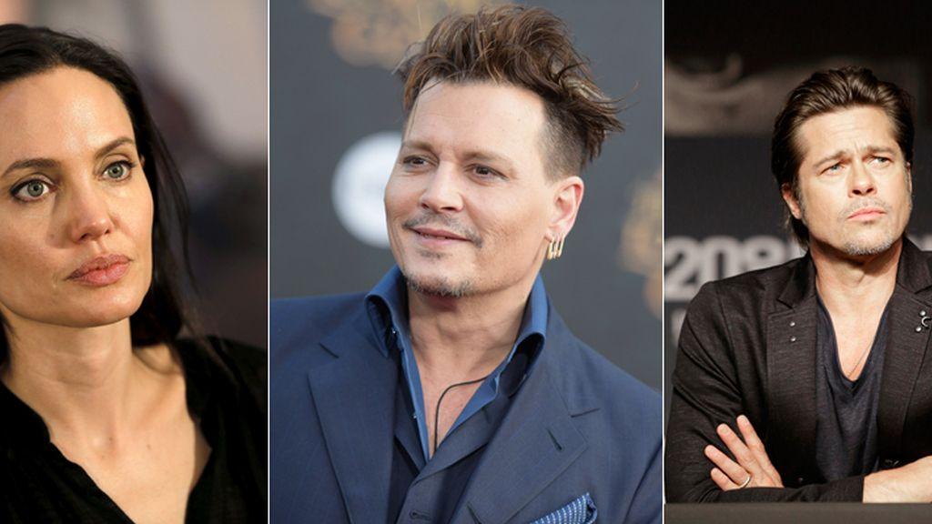 Johnny Depp consuela a Angelina Jolie tras su separación de Brad Pitt