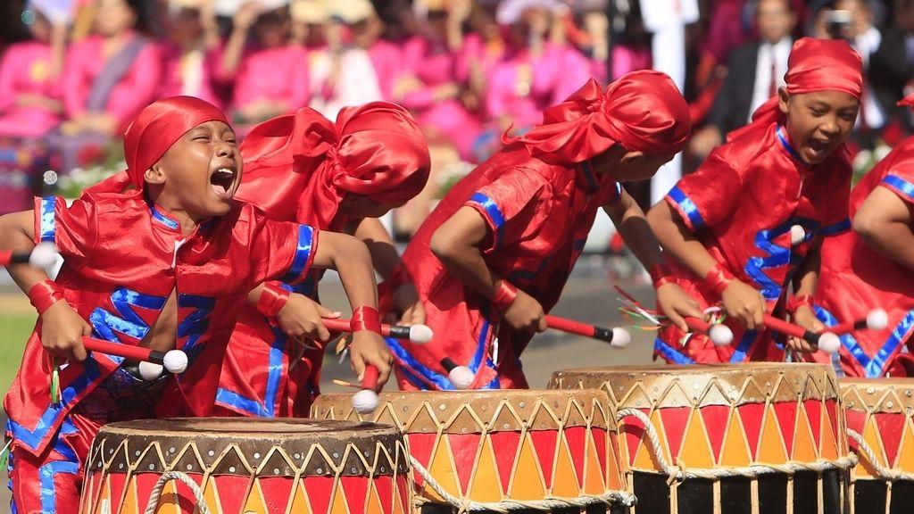 Celebración del día de la independencia en Jakarta