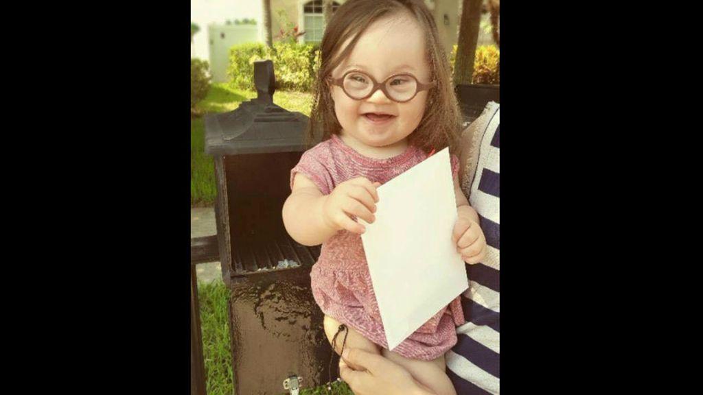 Emersyn, niña con síndrome de Down