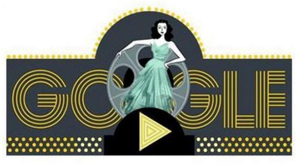 Hedy Lamarr en el doodle de Google