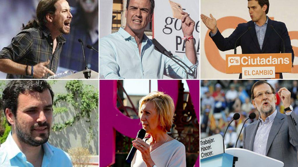 Fin de campaña con los líderes nacionales a la cabeza