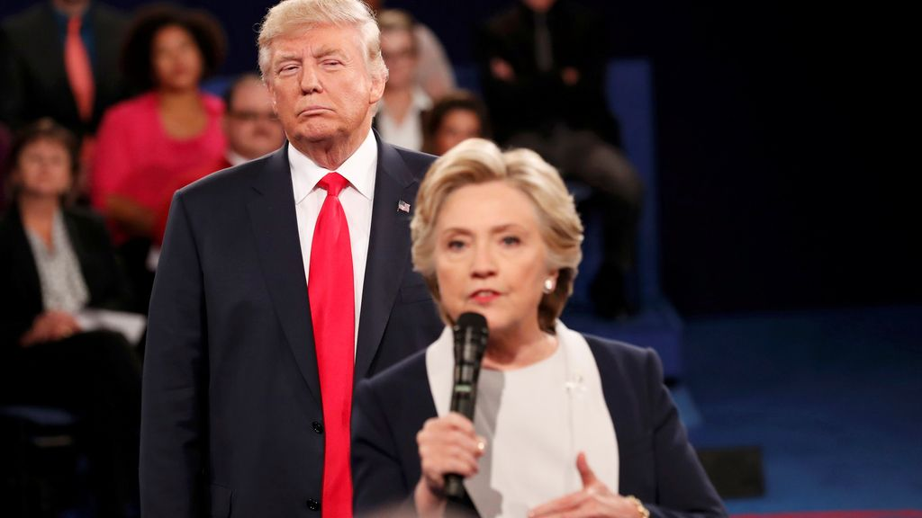 Donald Trump y Hilary Clinton durante el segundo debate