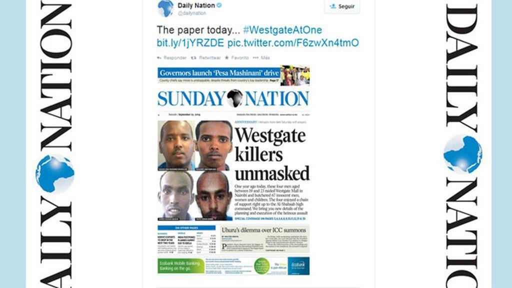 El rostro de los responsables del atentado en Westgate