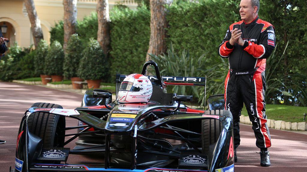 Alberto de Mónaco en una presentación 'a toda velocidad'