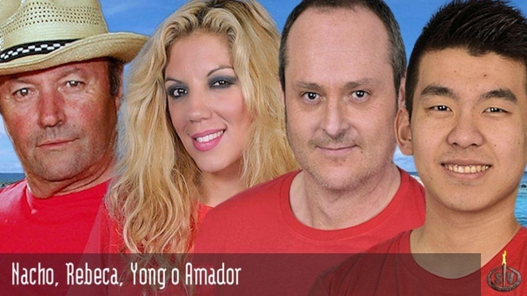 Nacho, Rebeca, Yong o Amador