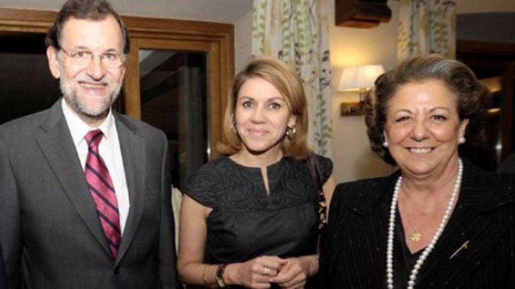 Rajoy, COspedal y Barberá