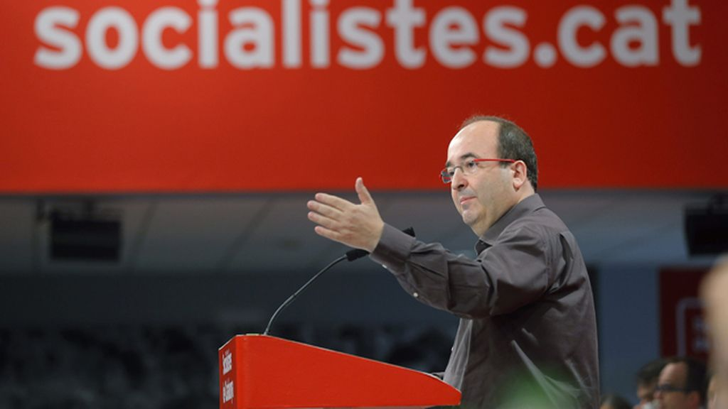 El primer secretario del PSC, Miquel Iceta, durante la reunión del Consejo Nacional