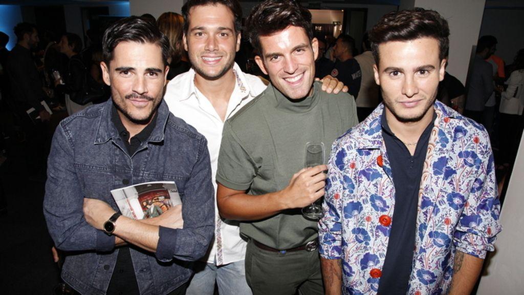 Dani Ramos, Federico Rodríguez, Alberto Ortiz y Roi Porto