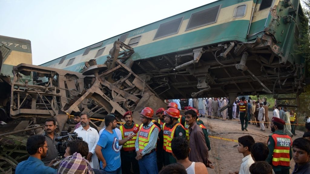 Accidente de tren en Pakistán