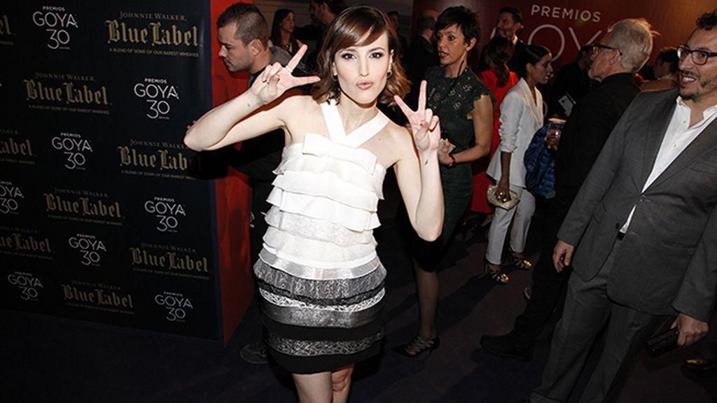 Natalia de Molina, con vestido de Paule Ka