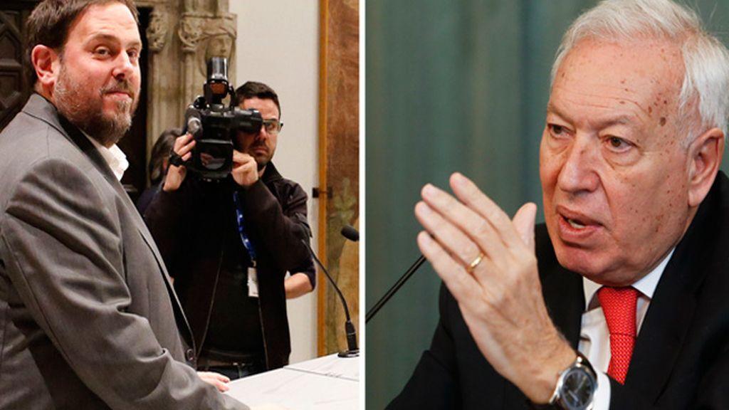 Margallo y Junqueras se miden en un 'cara a cara' sobre la independencia