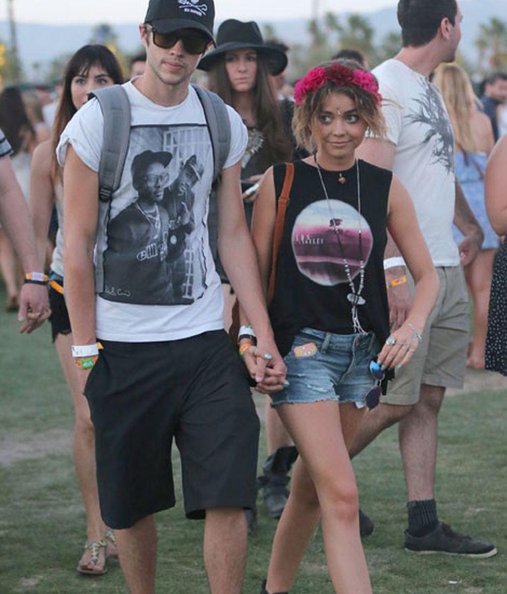 Sarah Hylandacudió al Festival con su novio Matt Prokop