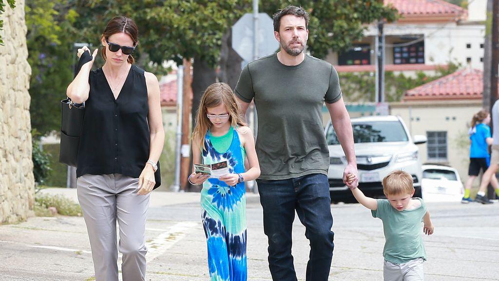 Ben Affleck y Jennifer Garner junto a sus hijos