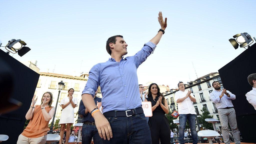 Albert Rivera en el acto de cierre de campaña