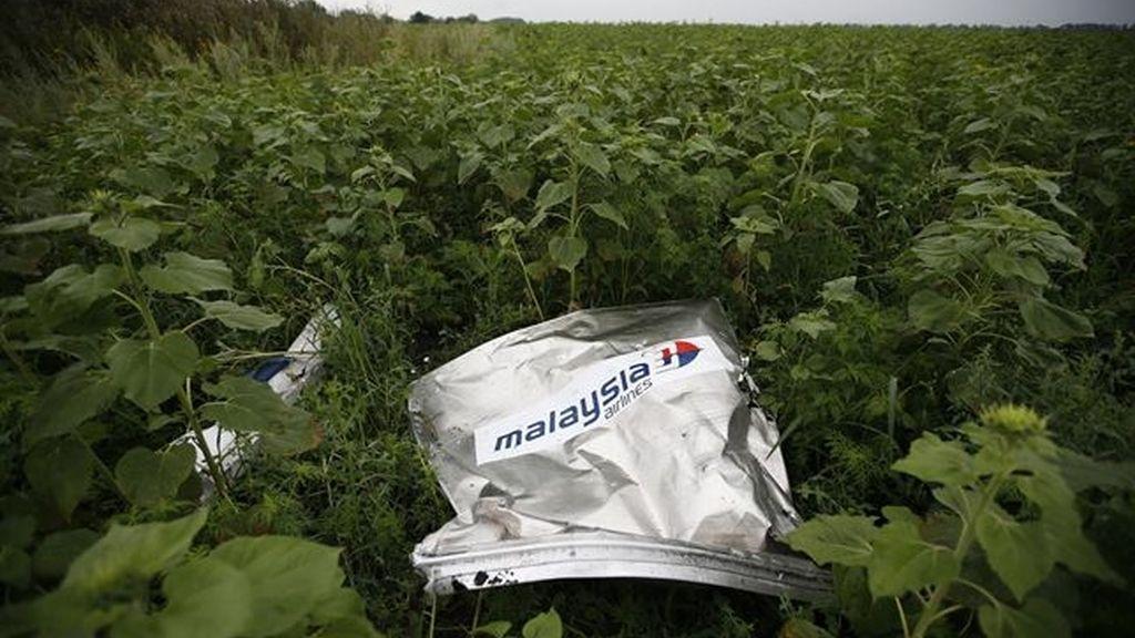 Encuentran más restos humanos en el lugar donde cayó el avión de Malaysia Airlines
