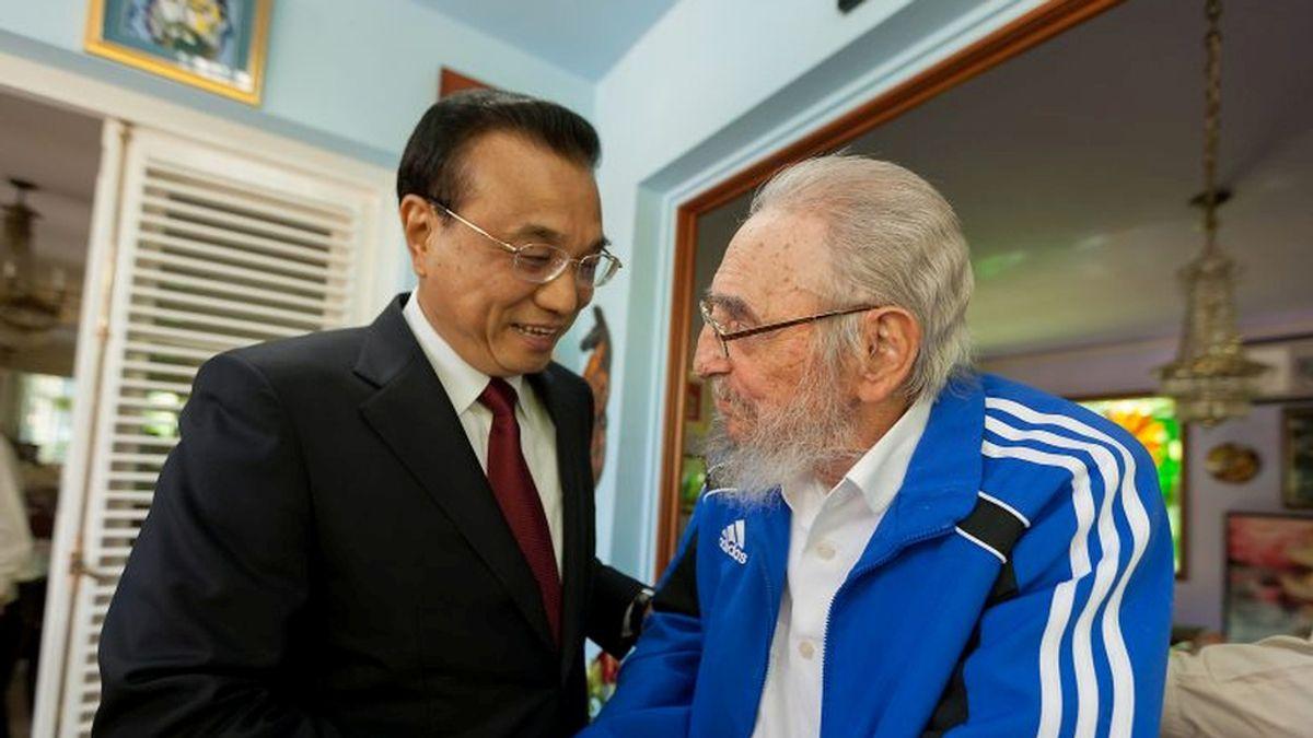Fidel Castro y Li Keqiang, primer ministro chino, el pasado 26 de septiembre