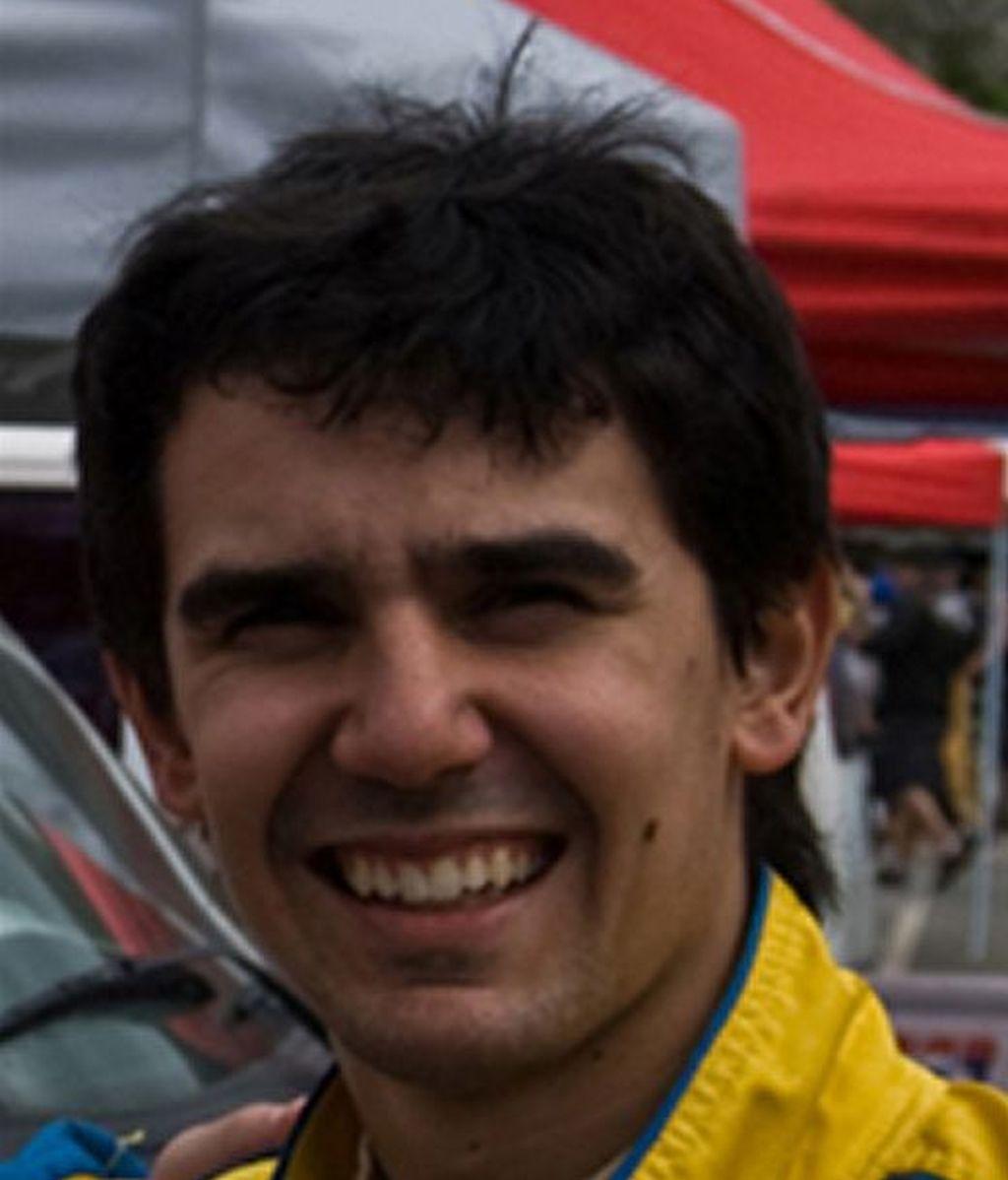 Sergio Tabeayo Sande, piloto del coche accidentado en el Rally de A Coruña