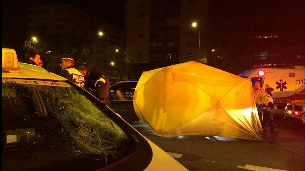 Muere un joven de 25 años al ser atropellado por un taxi en Madrid