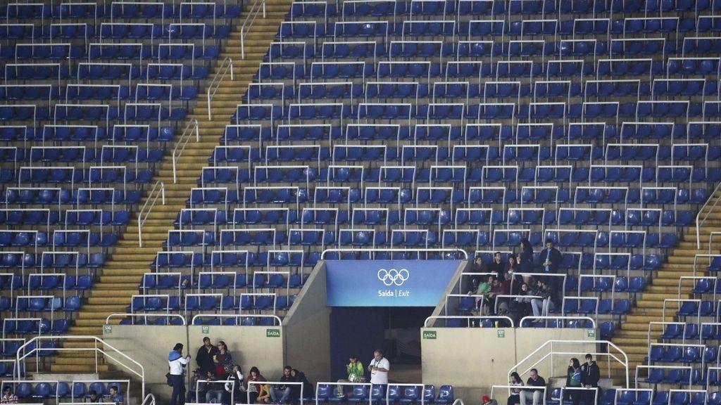 Los Juegos Olímpicos no consiguen medalla en la grada