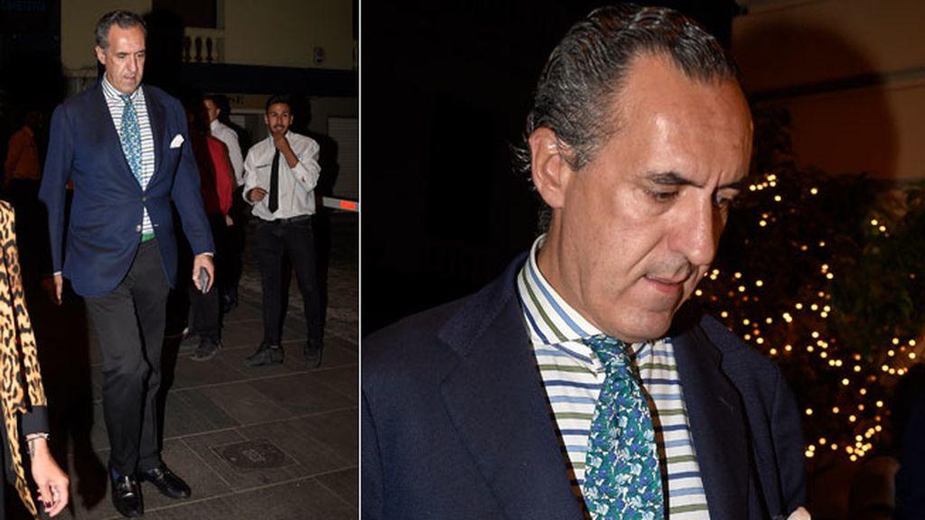 Jaime de Marichalar,combinando estampados en camisa y corbata