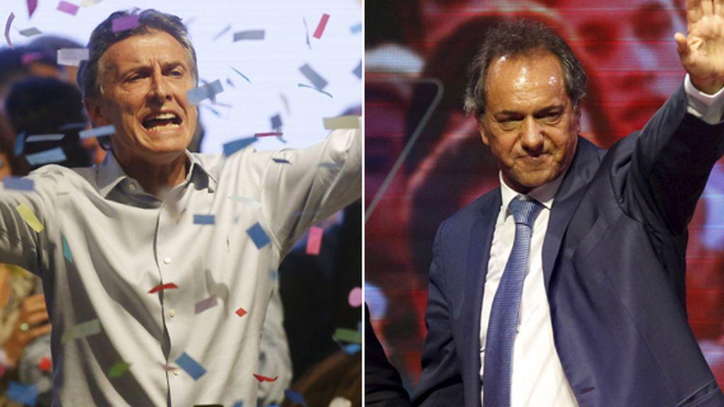 Scioli supera a Macri y fuerza a la segunda vuelta en Argentina