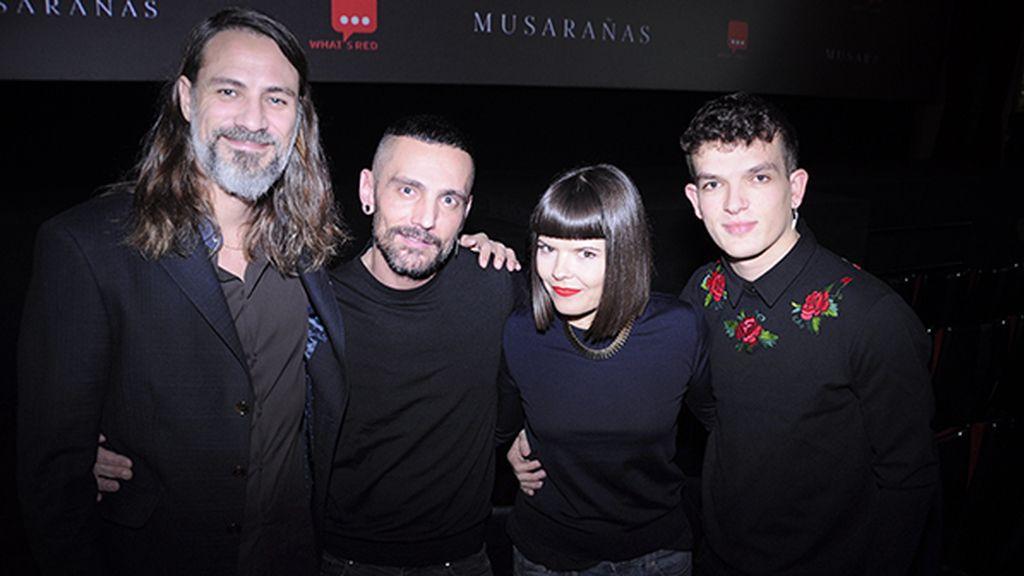 Sergio Mitjans, David Delfín, Laura Caballero y Dani Lozano