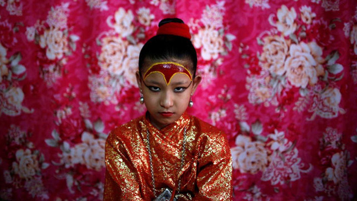 Kumari, la diosa de Nepal tiene solo 7 años