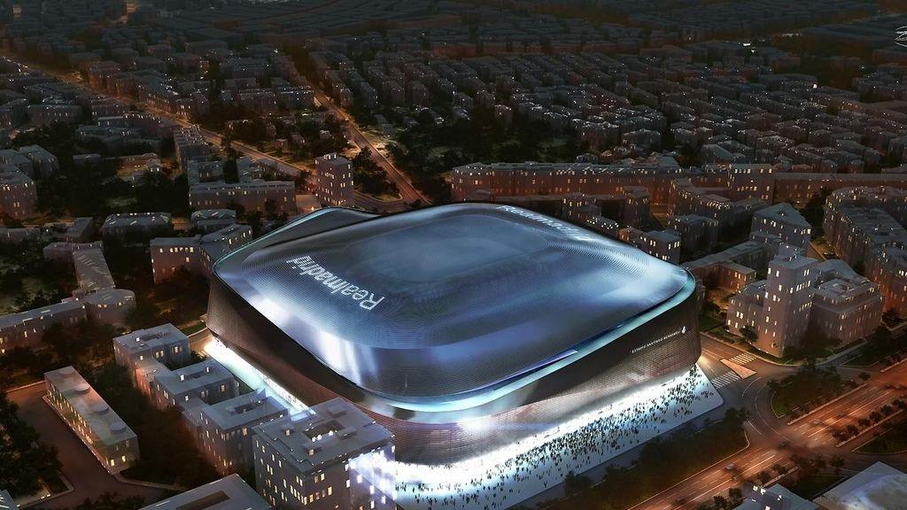Imagen de como quedará la cubierta retráctil del Santiago Bernabéu