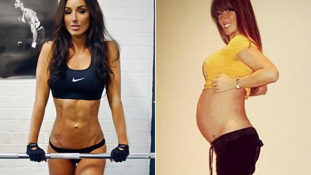 Abby Pell presume de abdominales tras su embarazo