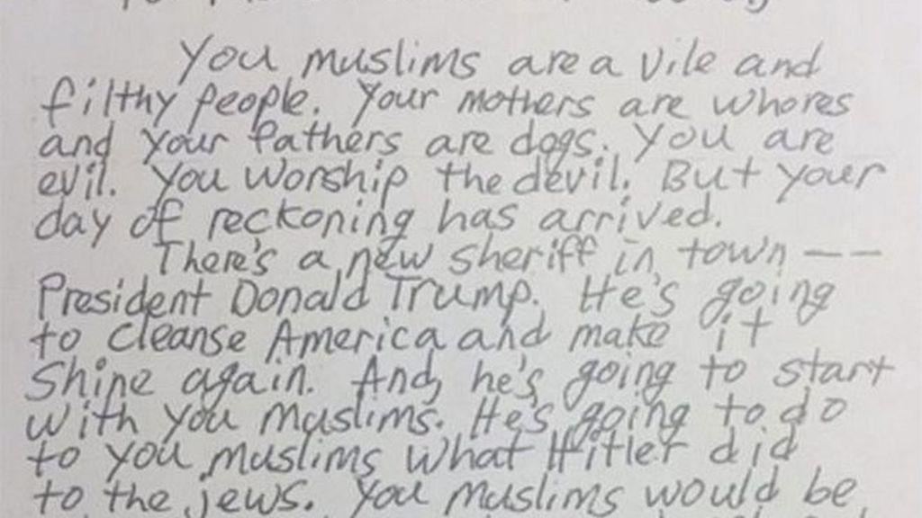 Amenazan con un genocidio en cartas enviadas a mezquitas estadounidenses