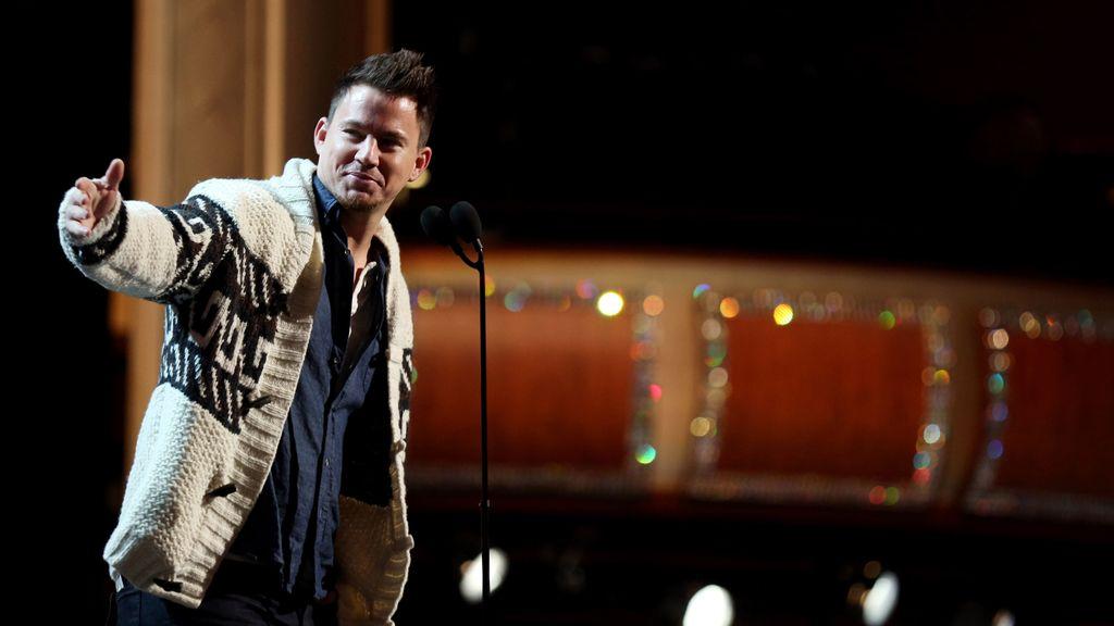 El actor Channing Tatum durante sus ensayos
