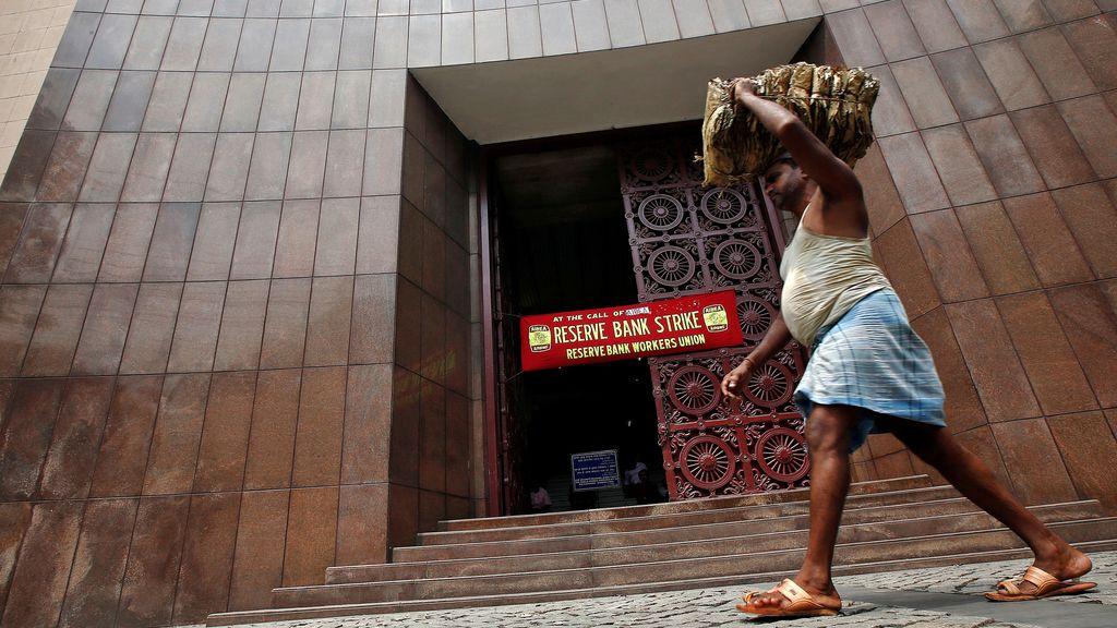 Un trabajador en la India