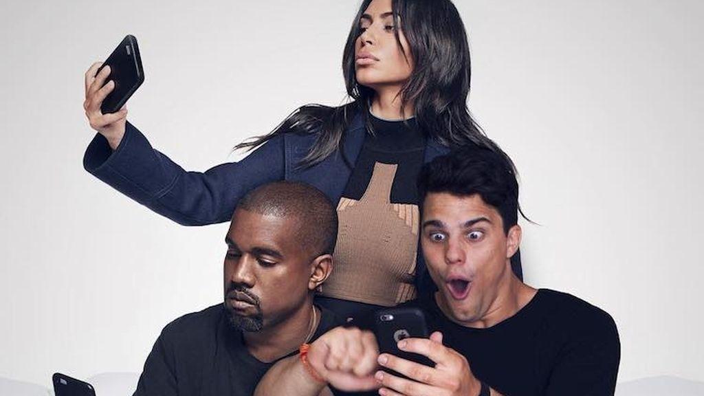 Con Kaney West y Kim Kardashian