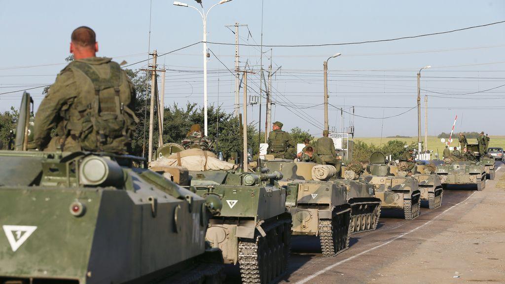 Despliegue ruso en la frontera con Ucrania tras la llegada del convoy humanitario