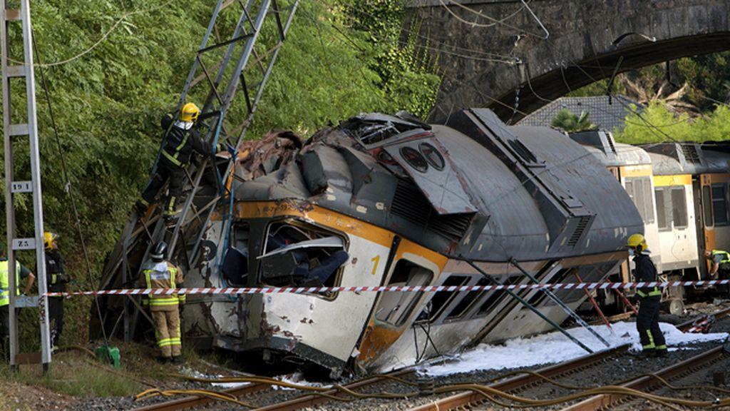 Las imágenes del descarrilamiento del tren en O Porriño