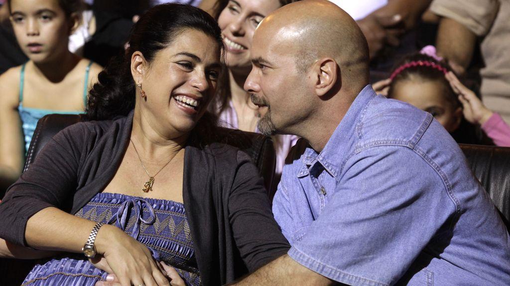 El espía cubano Gerardo Hernández y su esposa