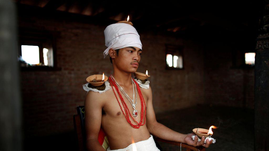 Triunfa el 'Dashain', un festival hindú celebrado en Bhaktapur